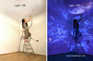 UV-Licht bringt Kunstwerke zum Leuchten!